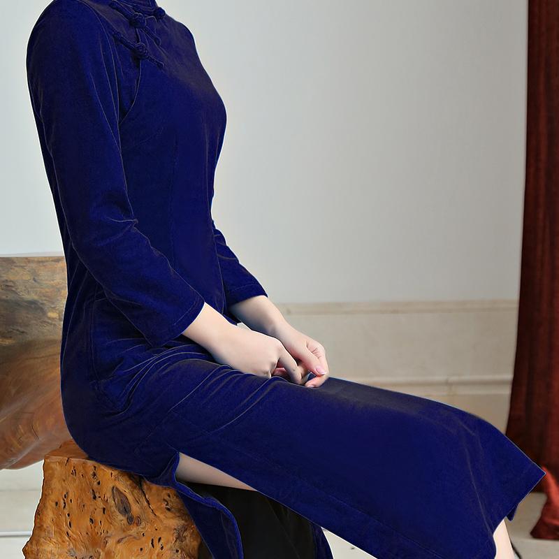 平绒旗袍裙
