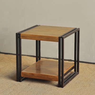美式简约边几复古客厅方几实木茶几铁艺小方桌子沙发角几迷你边桌有实体店吗