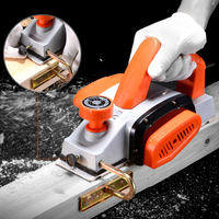 Explosion industrial grade woodworking portable electric shock flash plane multi-function household small electric push planer power tool planing