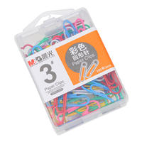 Chenguang Stationery Paperclip 3 Boxed Color Paper Clips Paper Clips Desktop Storage 3# Pins