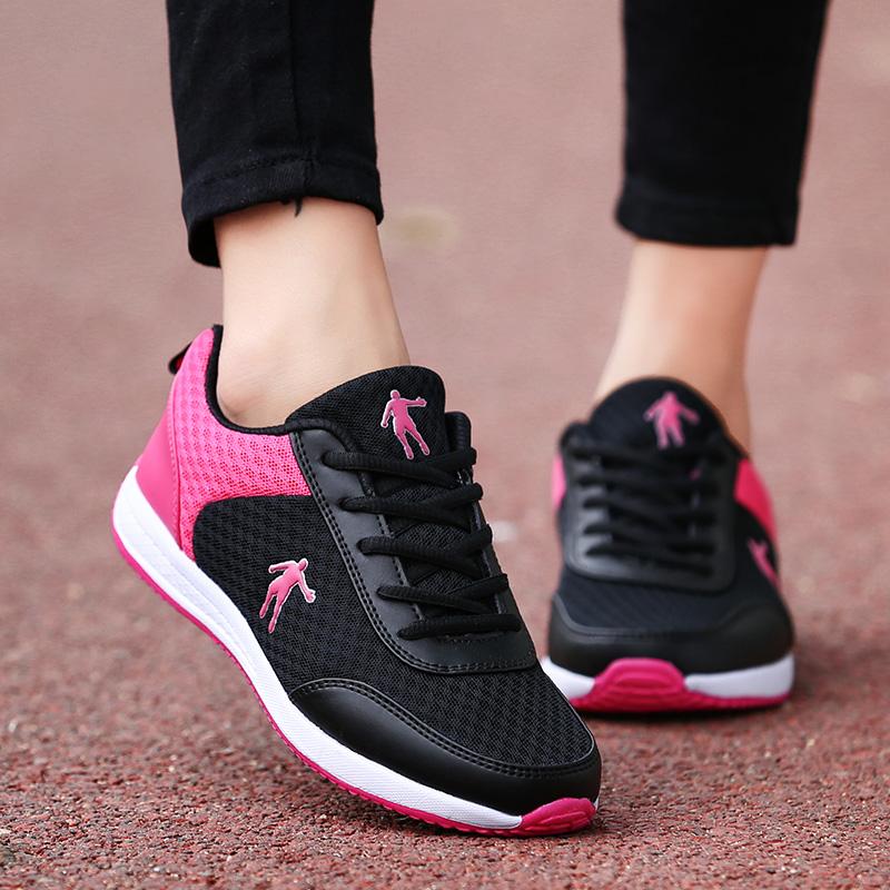 狄威 乔丹女鞋春夏网面休闲鞋平底学生运动鞋女板鞋透气跑步鞋361