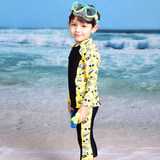 Korea has cute boy girl snorkeling surf split jellyfish clothing child student sunscreen warm swimsuit