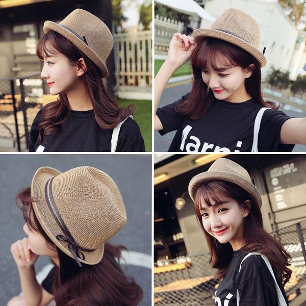 蝴蝶结平檐帽