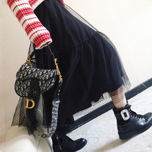 12.12还是那个领结 荷叶边大摆网纱半身仙女裙圣诞百褶19早春新款