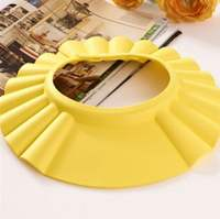 Baby shampoo artifact baby waterproof earmuffs shower cap can be adjusted to increase shampoo cap children bath water shower cap