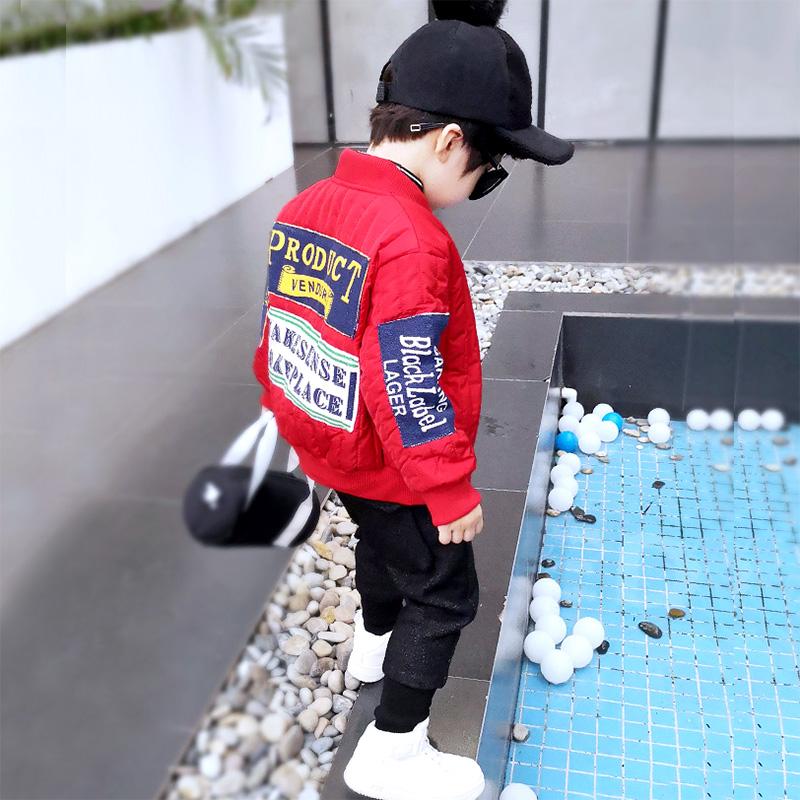 男童加厚加绒外套2018韩版冬装潮新款儿童夹棉宝宝加棉秋冬款棉衣图片