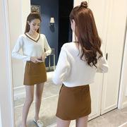娇小女装矮个子150CM显高145秋季155新款XS码针织毛衣两件套套装