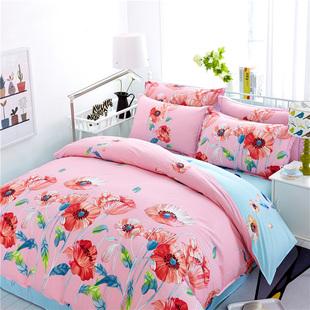 全棉简约床上四件套220240纯棉22.3米被套2.22.4米1.8床双人