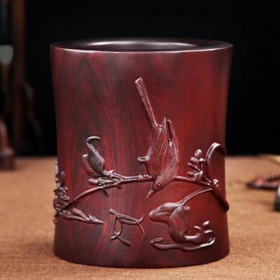 木雕办公桌摆件