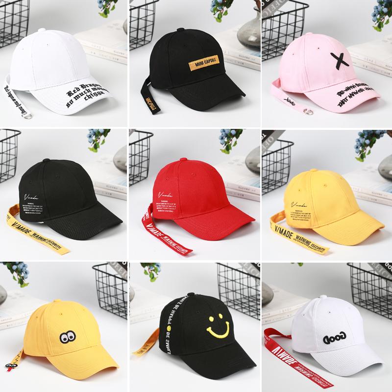 儿童帽子春秋男童棒球帽宝宝鸭舌帽女童嘻哈街舞帽夏季遮阳韩版潮