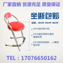 带靠背吧台椅前台椅子酒吧椅万向滑轮升降旋转椅子圆形理发美容凳