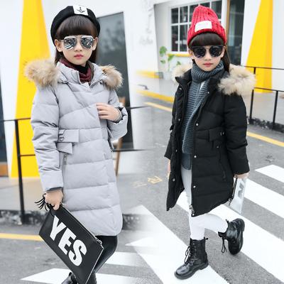 童装女童冬装棉衣2019新款外套韩版加厚中长款时髦棉袄儿童棉服潮