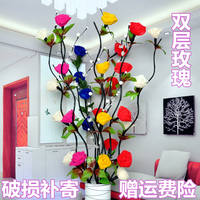 Fake flower simulation flower veins dried flower bouquet living room floor decoration indoor new house decoration flower decoration floral set