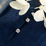 18K white gold diamond ear nail female real diamond genuine 0, 1 carat 10 centplatinum four-claw single male simple ear bone