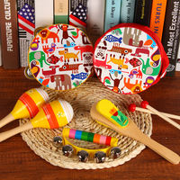 Male and female Orff percussion set combination baby early education toy children hand drums rattle knocking on the piano