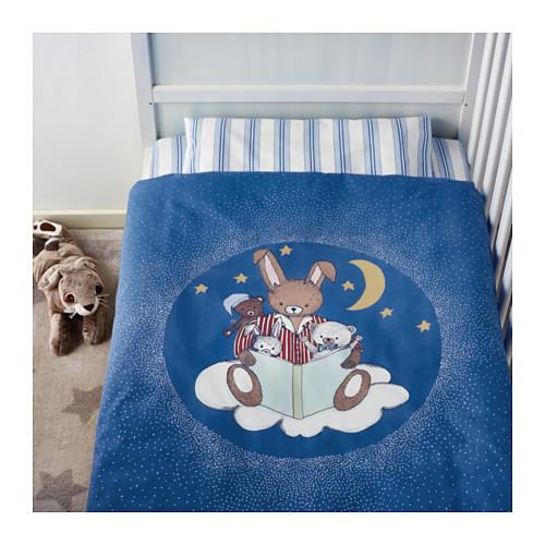 天津索多斯 儿童床上用品三件套(110x125蓝色)◆国内代购