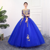 Wedding Dress Students Art Examination Mei Sheng Solo Host Photo Studio Photo Stage Performing Qidi Peng Long Skirt