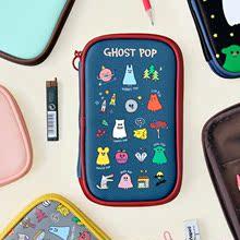 韩国正品文具GMZ跳舞幽灵笔袋笔包多功能收纳包护照包可爱女手包