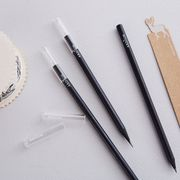 South Korea's genuine ardium creative stationery simple and practical transparent pencil cap eyebrow pencil anti-dirty pen cover five into