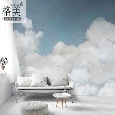 蓝天白云背景墙纸
