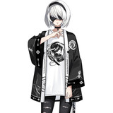 Jack Frontier Neil Mechanical Era Surrounding Anime Short Sleeve T-Shirt 2B Feather Wrap Set Two Yuan Student Clothes