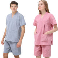 Blue Seal 100% cotton sweat steaming suit couple models men and women models chest double health massage bath sauna bath
