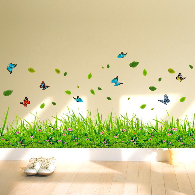 蝴蝶花壁贴纸