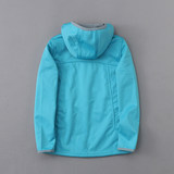 Canoe children's clothing children's outdoor sports and leisure hooded soft shell clothing plus velvet autumn and winter girls cardigan coat