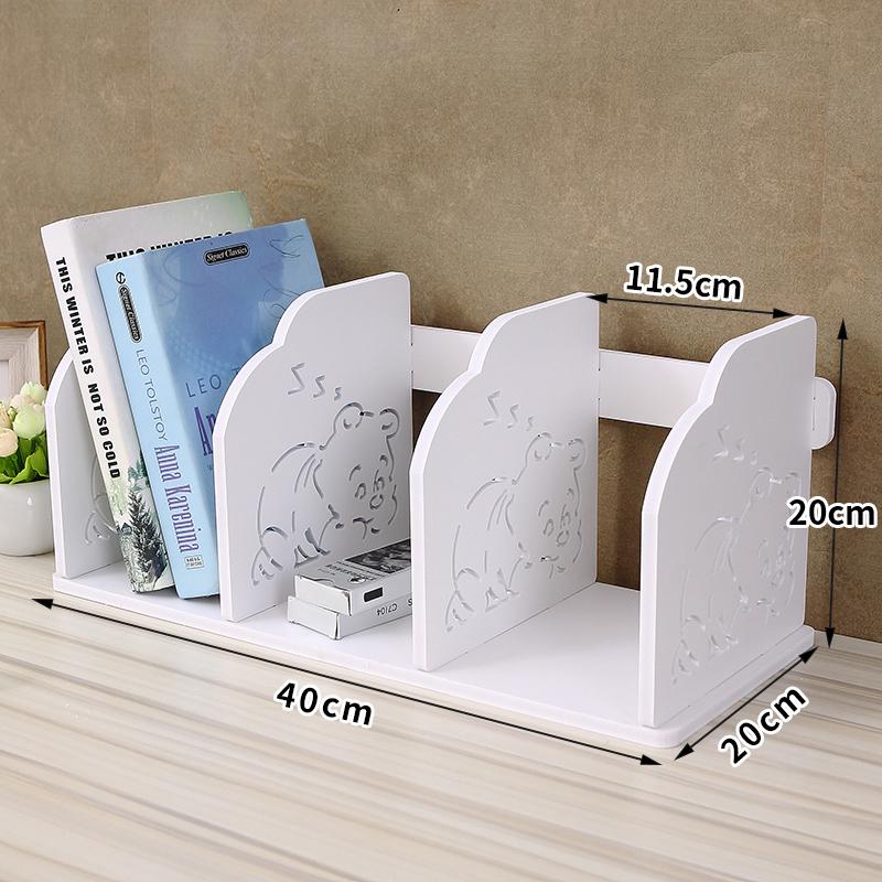 桌面儿童卡通小书架简易桌上置物架宿舍收纳整理架办公桌上放书架