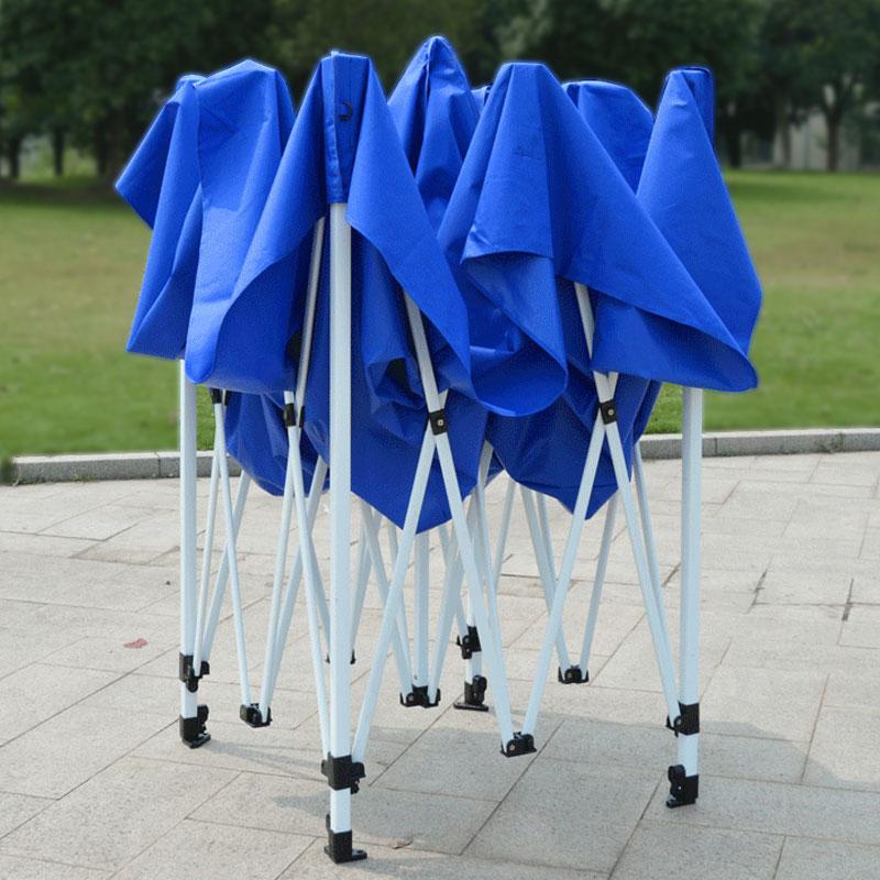 户外广告帐篷四脚棚子大伞摆摊伸缩遮阳棚雨棚四方折叠防雨蓬四角