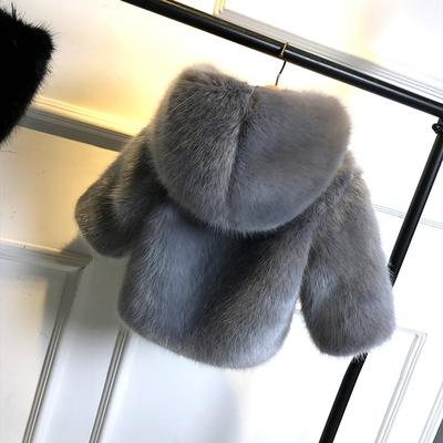 儿童皮草新款冬装水貂毛外套男童女童棉袄保暖加厚棉衣宝宝毛毛衣