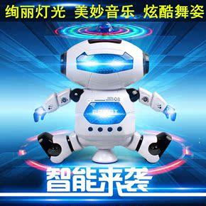 劲风炫舞者 太空跳舞电动机器人360度智能旋转灯光音乐红外线玩具