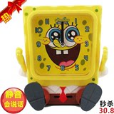 Spongebob squarepants mute student bedside children cartoon voice can talk night light small alarm clock creative cute