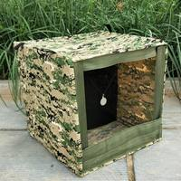 Slingshot practice target box steel ball recycling box slingshot mini folding camouflage canvas thickening target box box