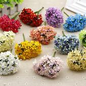 满天星仿真花假花DIY花环喜糖盒装饰用花胸花头饰花材料绢花布花