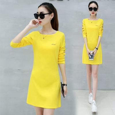 打底衫女春季2018新款时尚潮韩版女装蕾丝上衣修身中长款长袖T恤