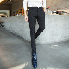 d63699bb5f1 2018 autumn men s casual feet pants Korean version of the self-cultivation trousers  men s small