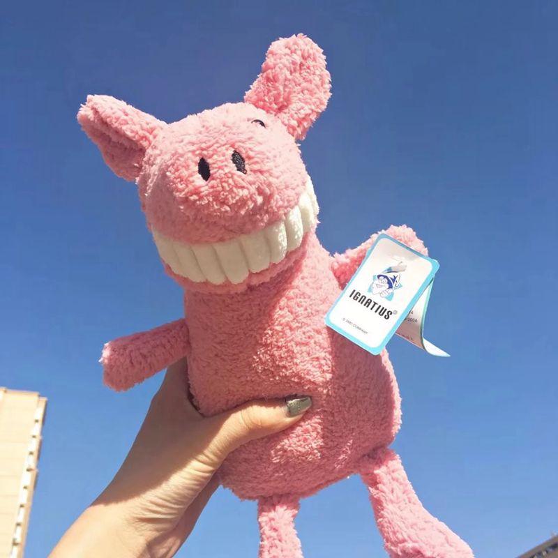 ins网红微笑大牙小猪猪公仔毛绒玩具超丑萌玩偶娃娃搞怪可爱呲牙