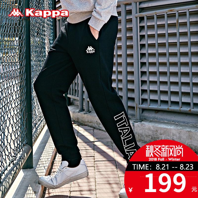 Kappa卡帕男宽松卫裤 休闲针织长裤运动裤 2018新品|K0815AK28D