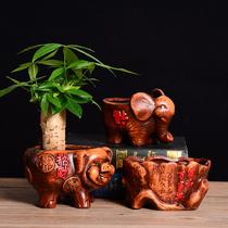 花槽爷爷长方形田园盆景菜盆花盘楼顶塑料蔬菜花盆大菜塑料箱长条