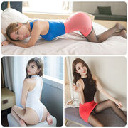 Sexy erotic lingerie passion suit Sao open file perspective uniform three-point small chest female pajamas blood drop couple
