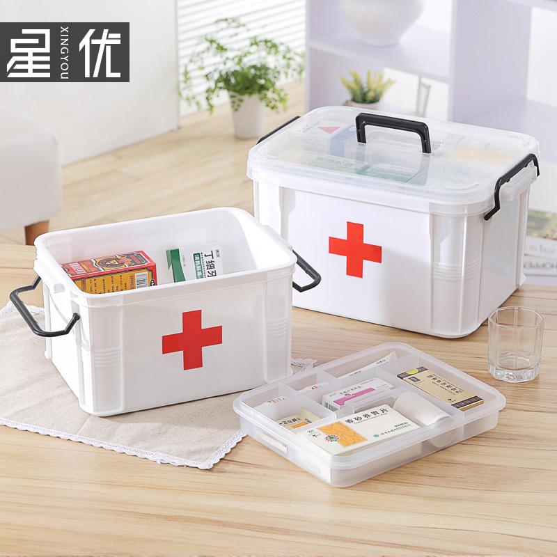 家用医药箱儿童大小药箱医疗用品医用家庭用急救箱药品收纳盒塑料
