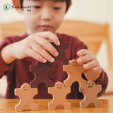 Soopsori domino children's building blocks 30 pieces adult puzzle wooden organs intelligence toys early education