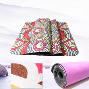 般古BANGU环便携保防滑天然橡胶印花麂皮绒瑜伽垫运动健身垫铺巾