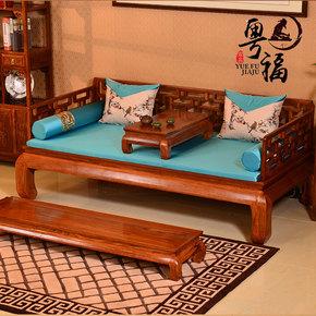 新中式红木家具罗汉床沙发罗汉榻刺猬紫檀花梨木床榻实木休闲床