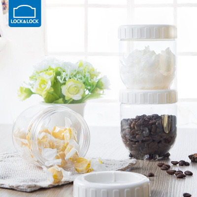 乐扣乐扣塑料防潮密封罐透明食品储物罐家用厨房收纳盒冰箱保鲜盒图片