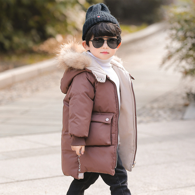 男童棉衣2018新款冬装加厚外套宝宝中长款棉袄小儿童冬季羽绒棉服