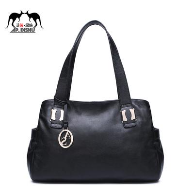 AP.DISHU头层牛皮新款真皮波士顿女包手提包中年妈妈包包单肩包