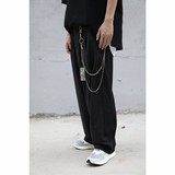 EVILKNIGHT 18ss new original tide loose retro pants chain black gray trousers casual pants
