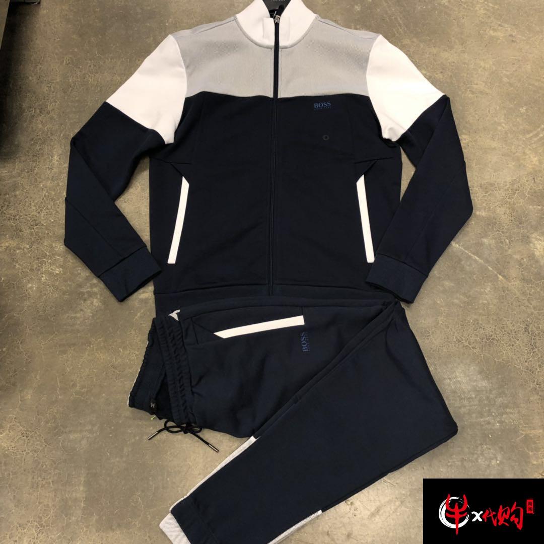 牛X正品 Hugo boss男士春夏新款卫衣套装 卫衣加卫裤纯棉透气柔软